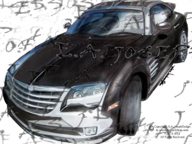 Hand Drawn SRT6 Rendering 2