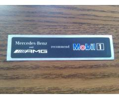 Mobil1 Oil Sticker