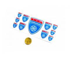 Karmann blue domed emblems