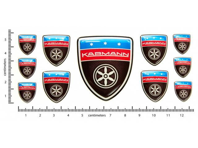 Karmann carbon domed emblems