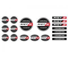 Crossfire SRT6 domed emblems set