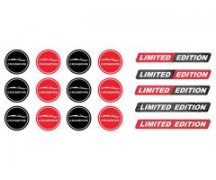 Crossfire cabrio key fob domed stickers