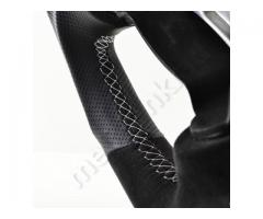 Steering wheel - Grey/Alacantara/White - Sport grip - 1138a10.3 - Meinlenkrad