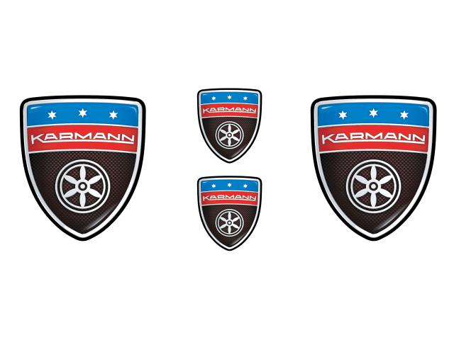 Karmann carbon emblems