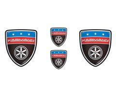 Karmann carbon emblems