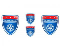Karmann blue emblems