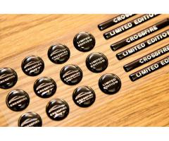Crossfire coupe key fob black domed stickers