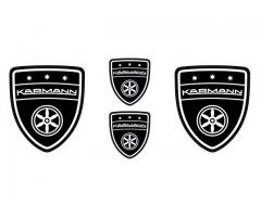 Karmann black emblems