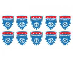 Karmann shield small blue emblems