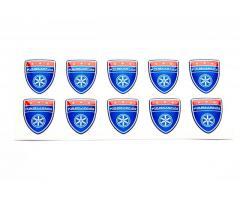 Karmann shield small blue emblems