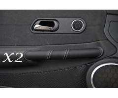 Black Leather Door Handle Covers