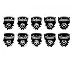 Karmann shield small black emblems